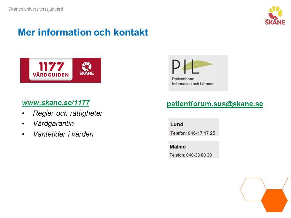 Mer information och kontakt