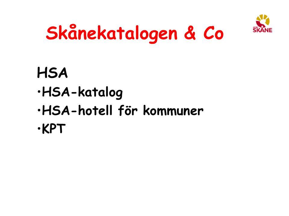 HSA HSA-katalog HSA-hotell för kommuner KPT