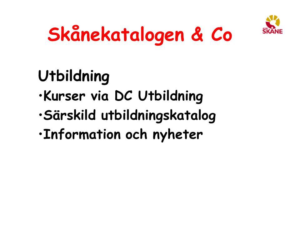 Skånekatalogen & Co Utbildning Kurser via DC Utbildning
