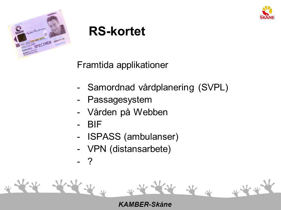 RS-kortet Framtida applikationer Samordnad vårdplanering (SVPL)
