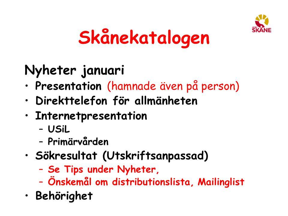 Skånekatalogen Nyheter januari Presentation (hamnade även på person)