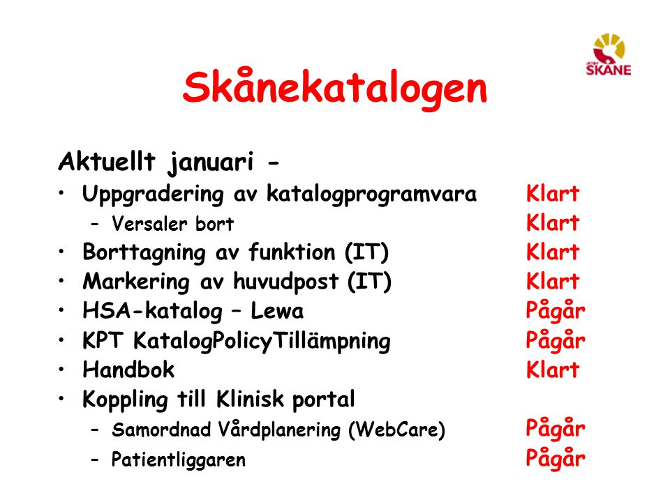 Skånekatalogen Aktuellt januari -