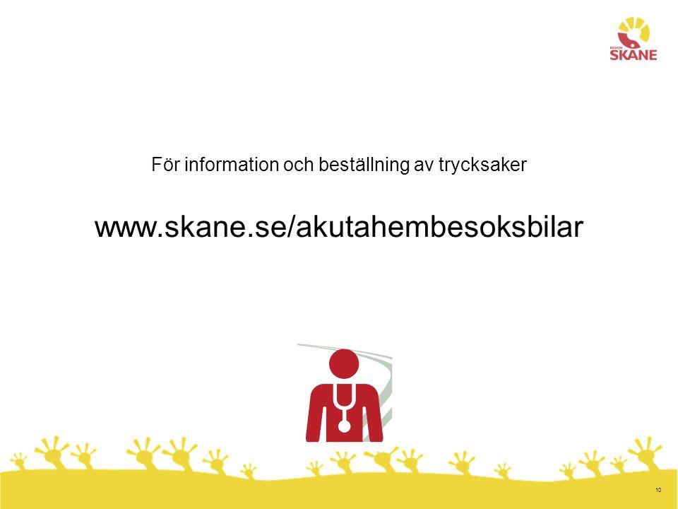 För information och beställning av trycksaker