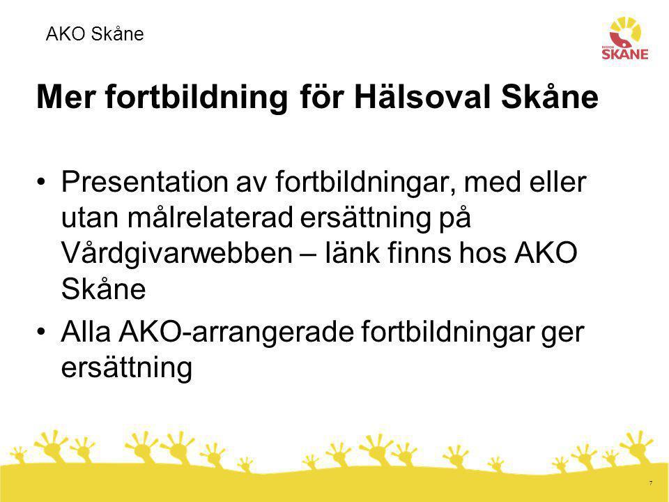 Mer fortbildning för Hälsoval Skåne