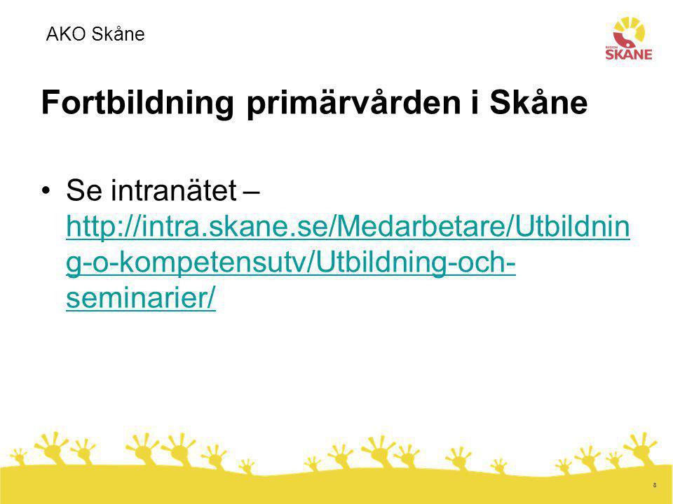 Fortbildning primärvården i Skåne