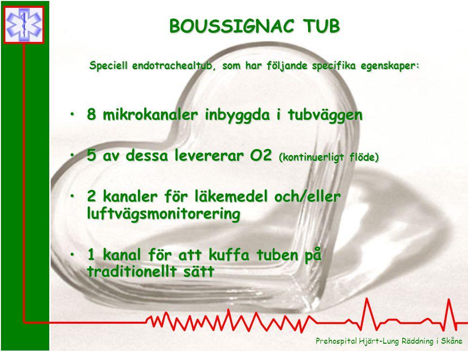 BOUSSIGNAC TUB Speciell endotrachealtub, som har följande specifika egenskaper: