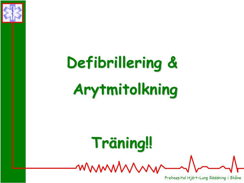 Defibrillering & Arytmitolkning Träning!!