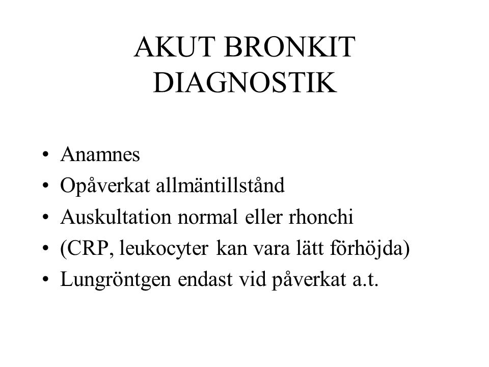 AKUT BRONKIT DIAGNOSTIK