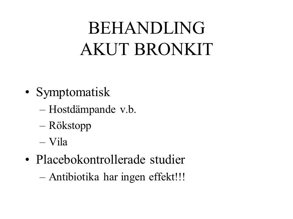 BEHANDLING AKUT BRONKIT