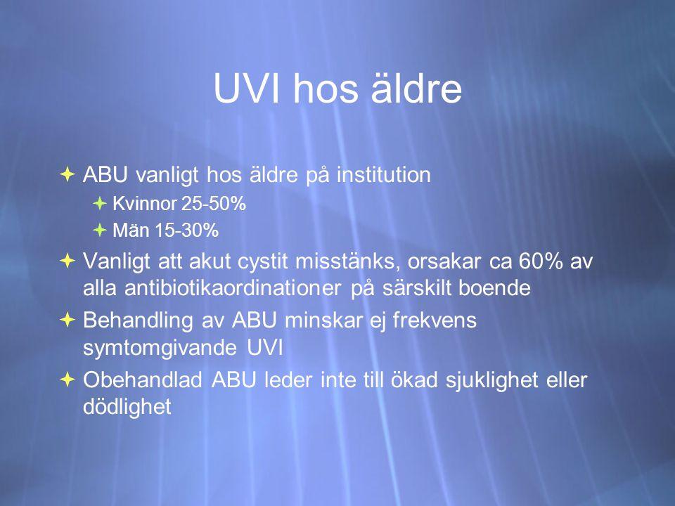UVI hos äldre ABU vanligt hos äldre på institution