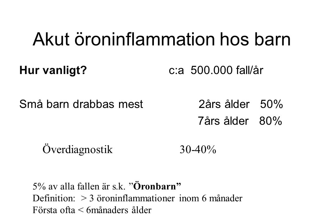 Akut öroninflammation hos barn