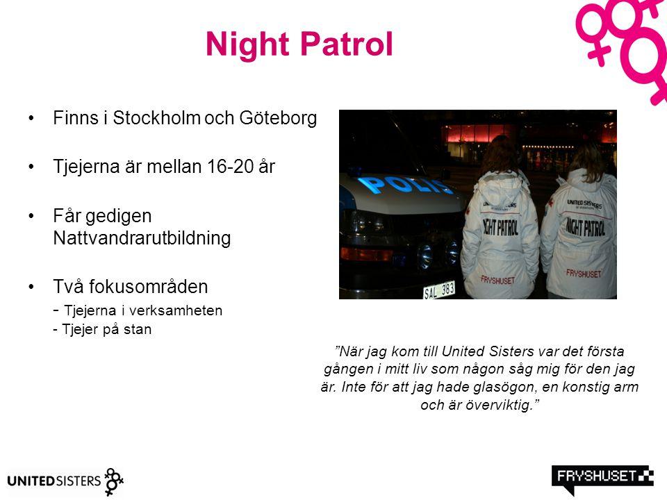 Night Patrol Finns i Stockholm och Göteborg