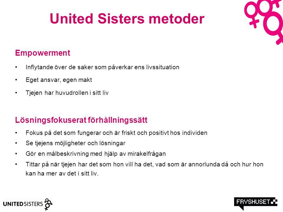 United Sisters metoder