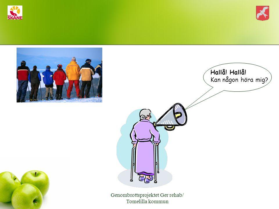 Genombrottsprojektet Ger rehab/ Tomelilla kommun