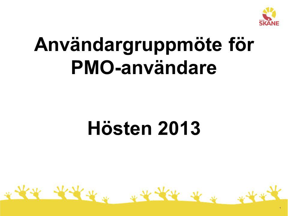 Användargruppmöte för PMO-användare