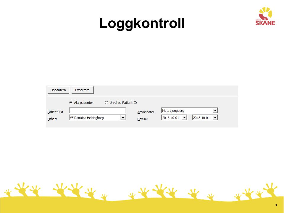 Loggkontroll 14