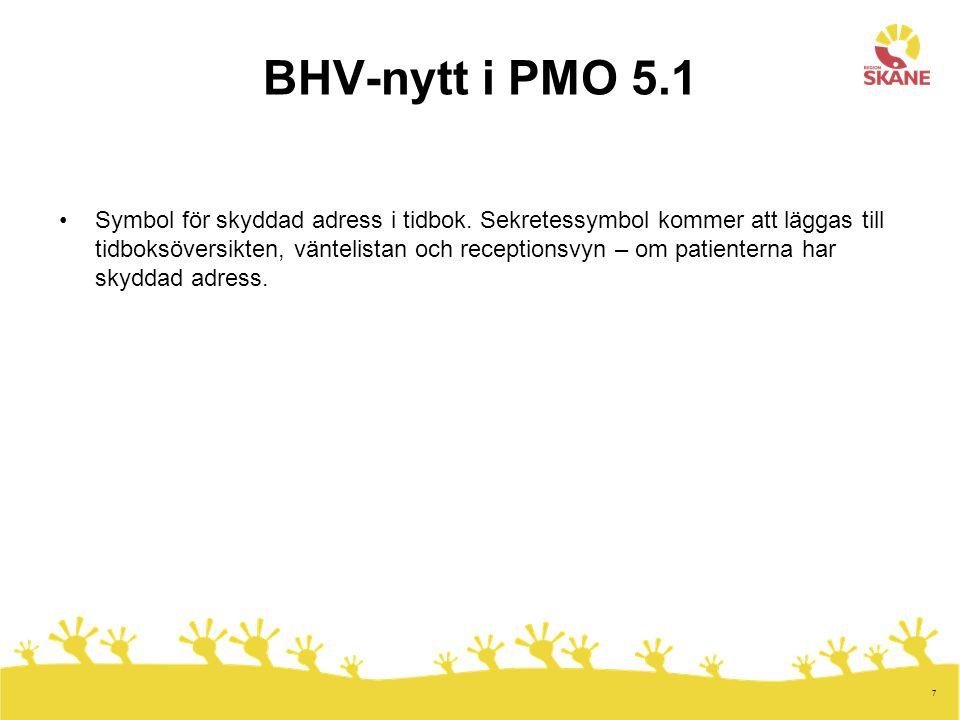 BHV-nytt i PMO 5.1