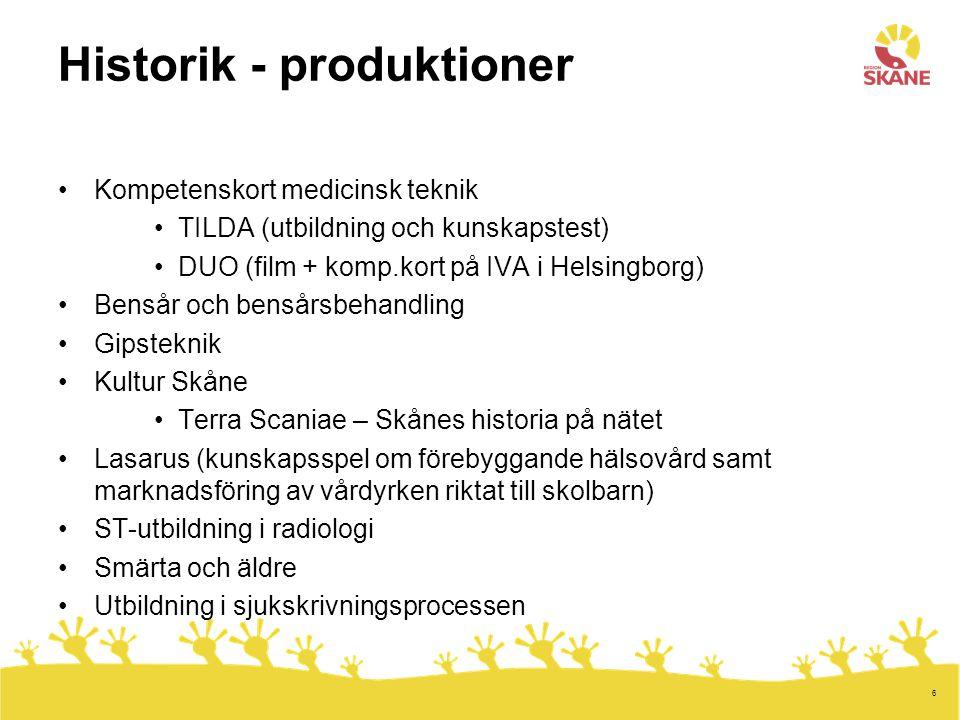 Historik - produktioner