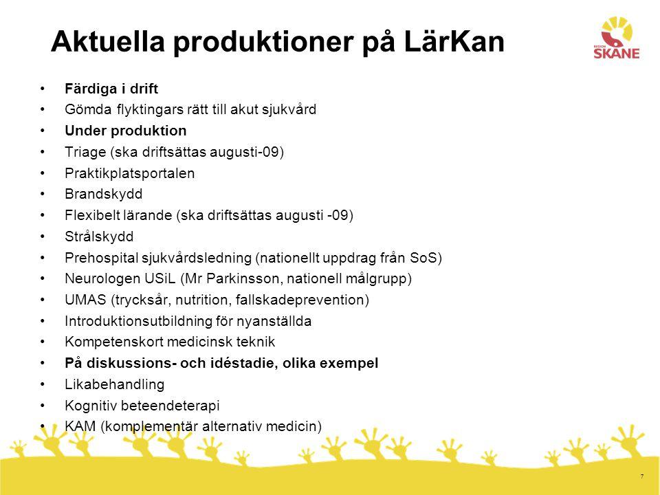 Aktuella produktioner på LärKan