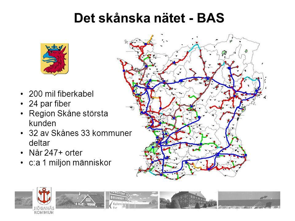 Det skånska nätet - BAS 200 mil fiberkabel 24 par fiber
