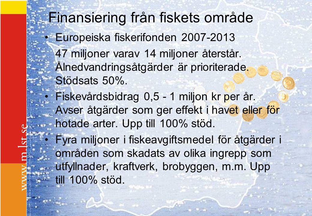 Finansiering från fiskets område