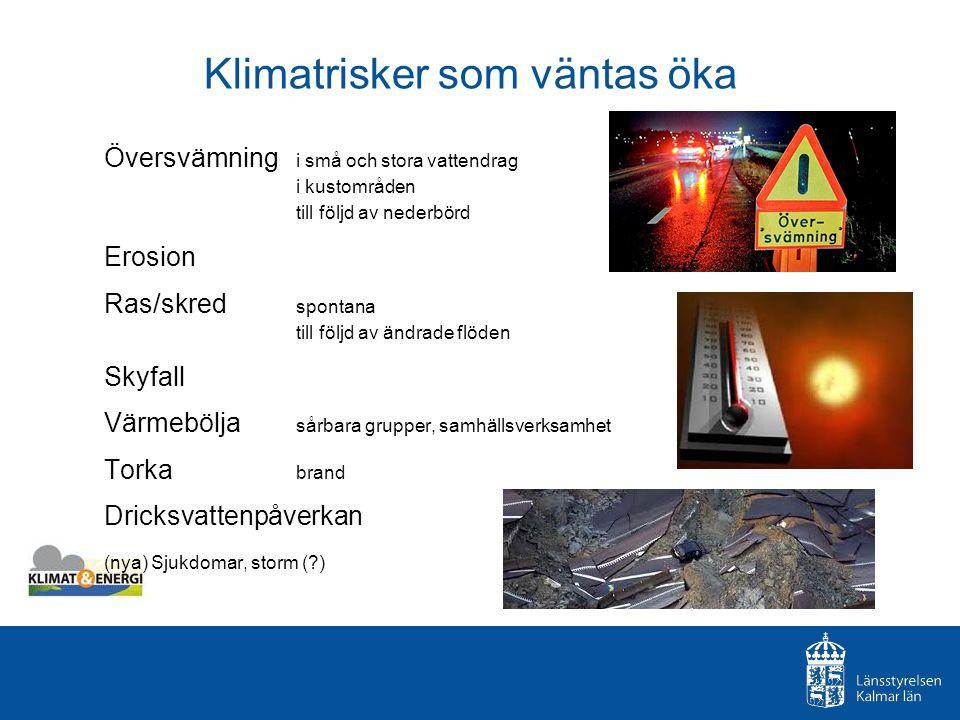 Klimatrisker som väntas öka