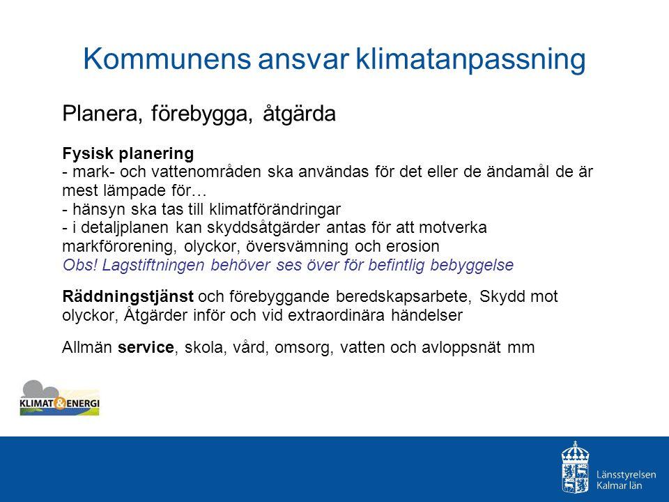 Kommunens ansvar klimatanpassning
