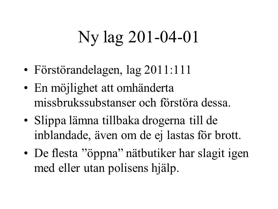 Ny lag 201-04-01 Förstörandelagen, lag 2011:111