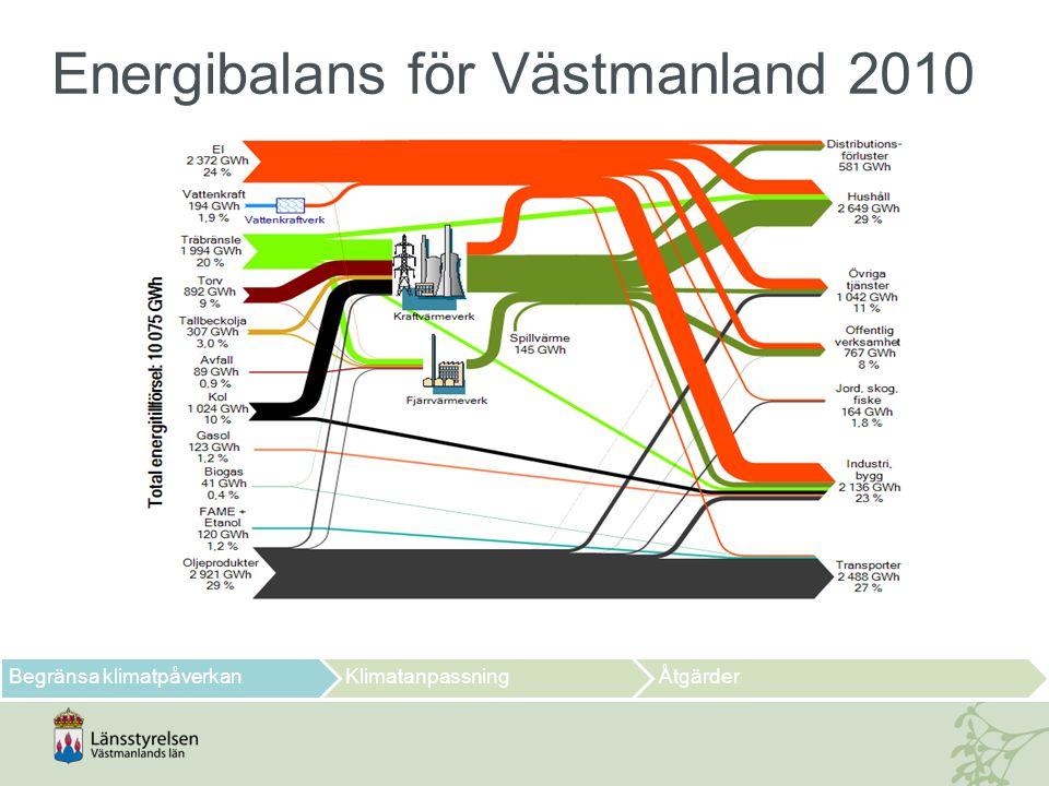 Energibalans för Västmanland 2010
