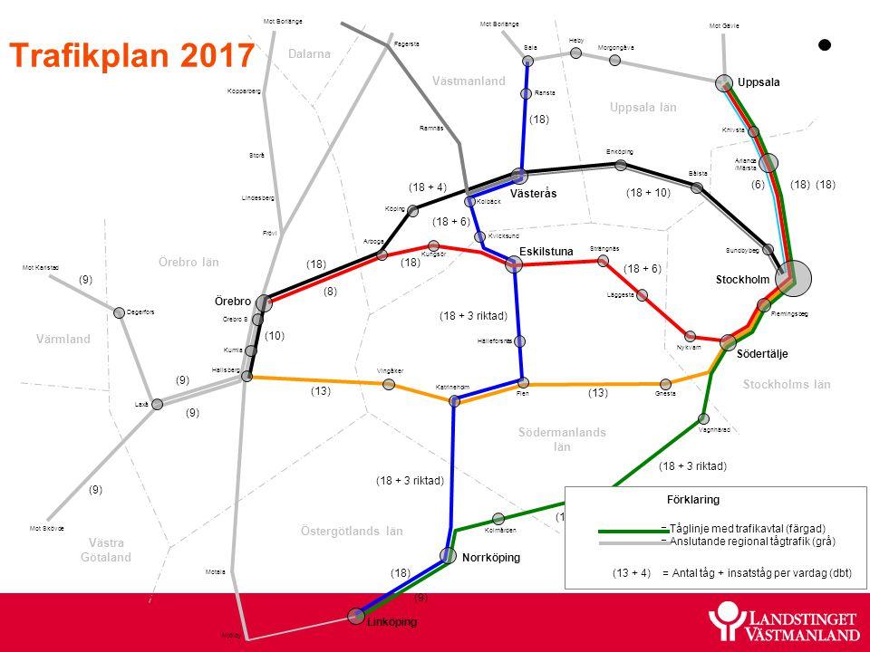 Trafikplan 2017 Dalarna Västmanland Uppsala län Örebro län Värmland