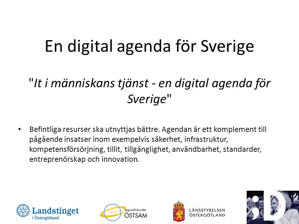 En digital agenda för Sverige