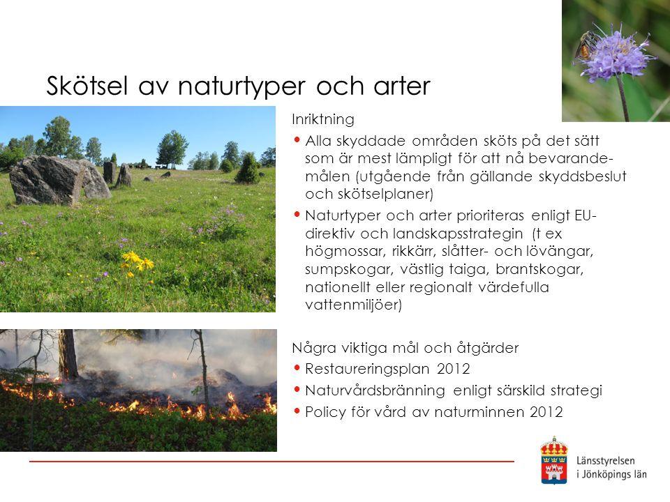Skötsel av naturtyper och arter