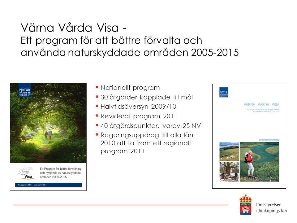 Värna Vårda Visa - Ett program för att bättre förvalta och använda naturskyddade områden 2005-2015