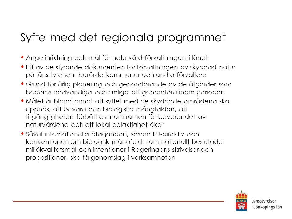 Syfte med det regionala programmet