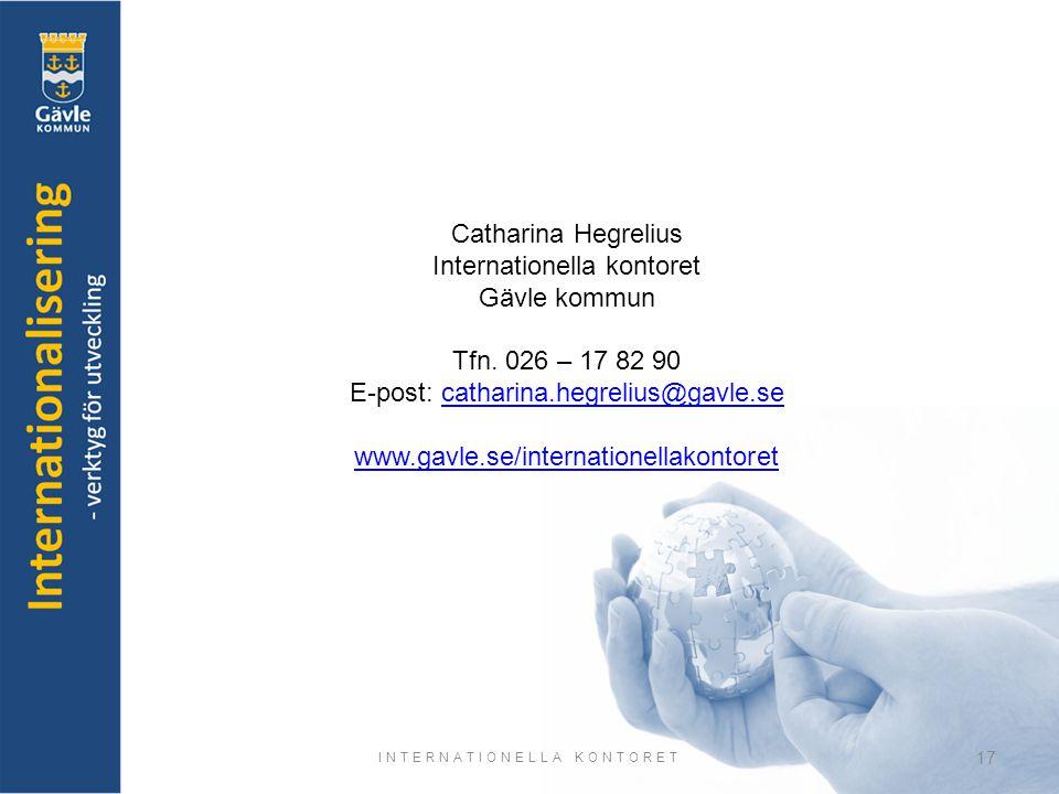 Internationella kontoret Gävle kommun Tfn. 026 – 17 82 90
