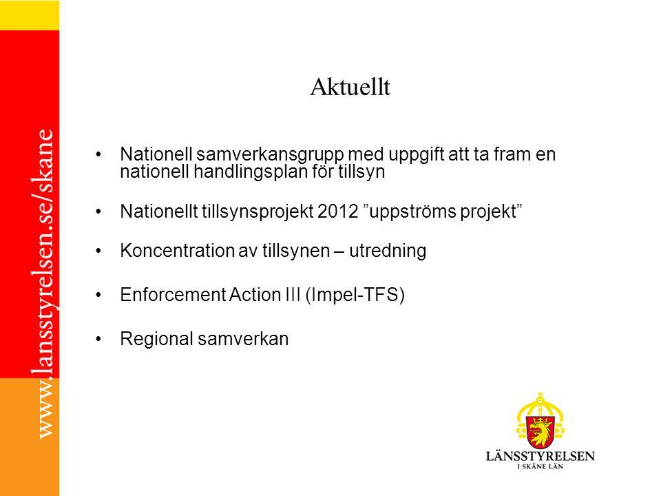 Aktuellt Nationell samverkansgrupp med uppgift att ta fram en nationell handlingsplan för tillsyn.