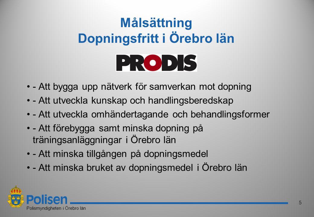 Målsättning Dopningsfritt i Örebro län