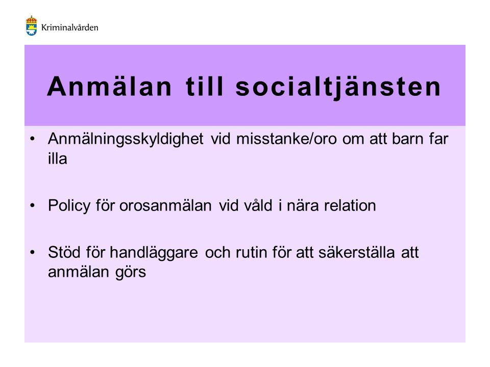 Anmälan till socialtjänsten