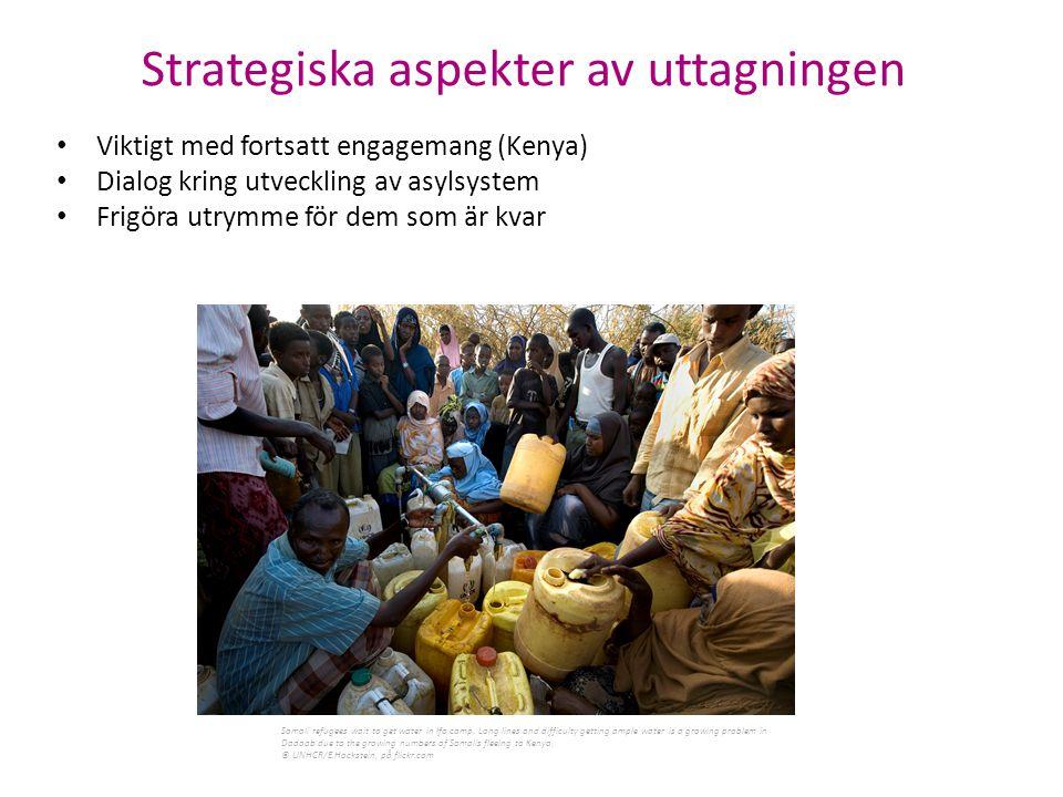 Strategiska aspekter av uttagningen