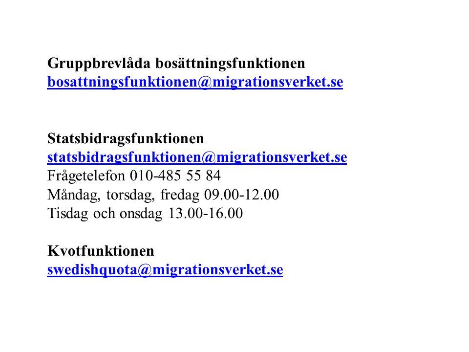 Gruppbrevlåda bosättningsfunktionen bosattningsfunktionen@migrationsverket.se