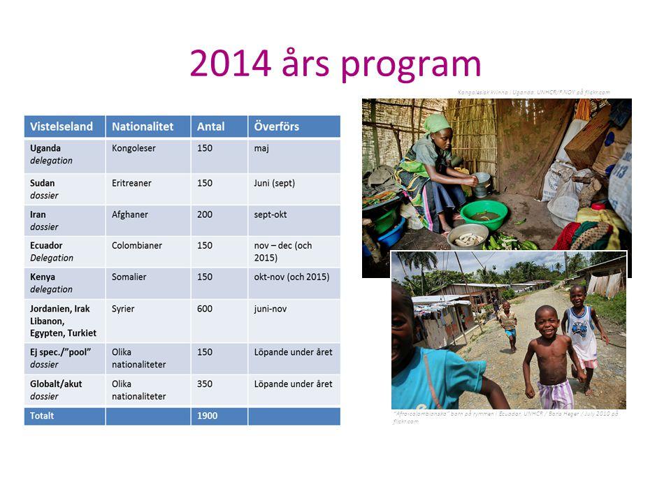 2014 års program Kongolesisk kvinna i Uganda. UNHCR/F.NOY på flickr.com. Flyktingar från Syrien i fokus för Sveriges kvotuttagning 2014.