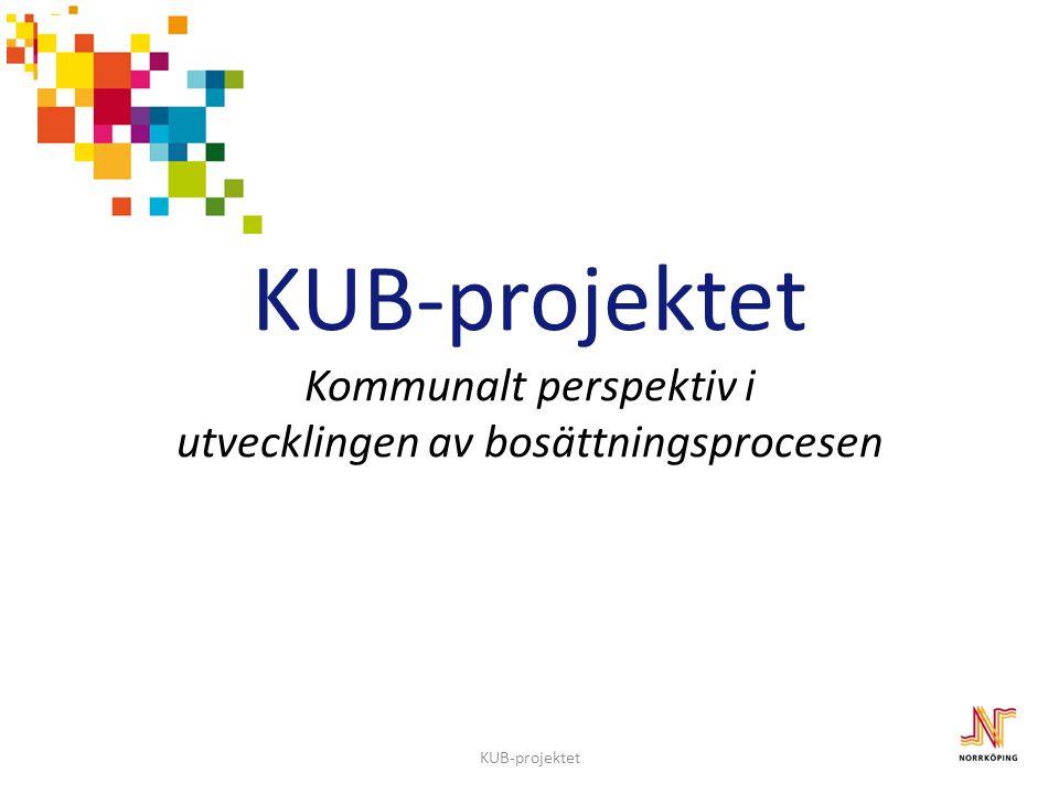 2012-11-27 KUB-projektet Kommunalt perspektiv i utvecklingen av bosättningsprocesen. KUB-projektet.