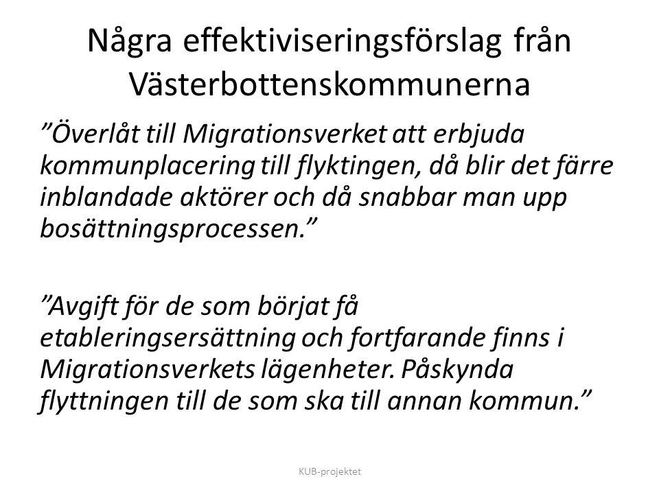 Några effektiviseringsförslag från Västerbottenskommunerna