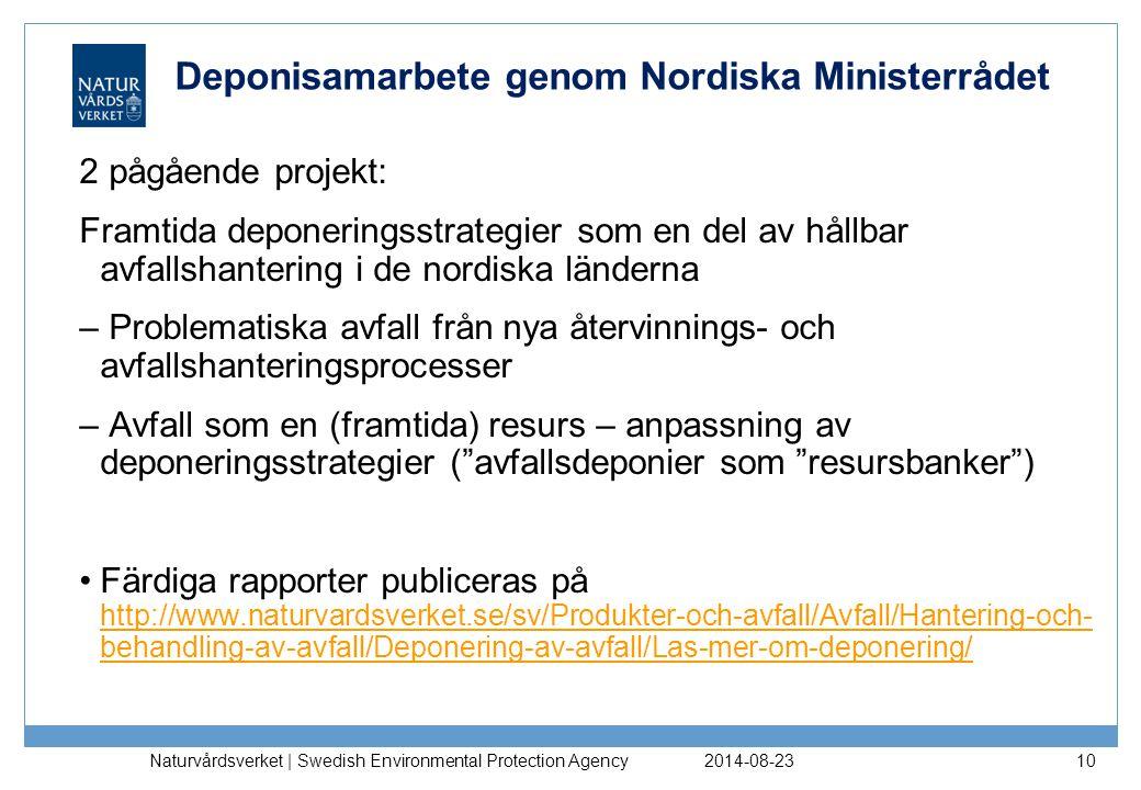 Deponisamarbete genom Nordiska Ministerrådet