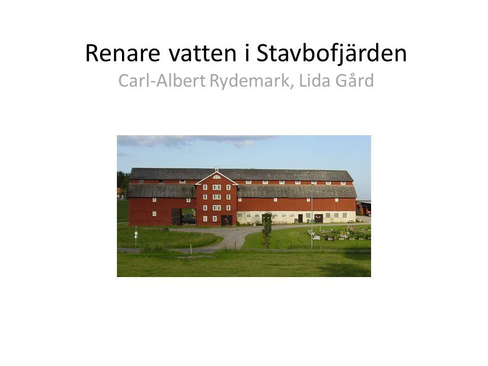 Renare vatten i Stavbofjärden Carl-Albert Rydemark, Lida Gård