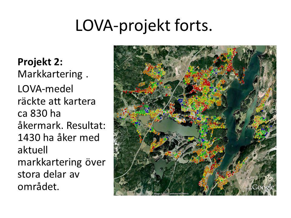 LOVA-projekt forts. Projekt 2: Markkartering .