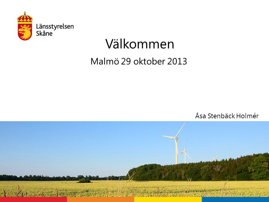 Välkommen Malmö 29 oktober 2013 Åsa Stenbäck Holmér Välkomna!