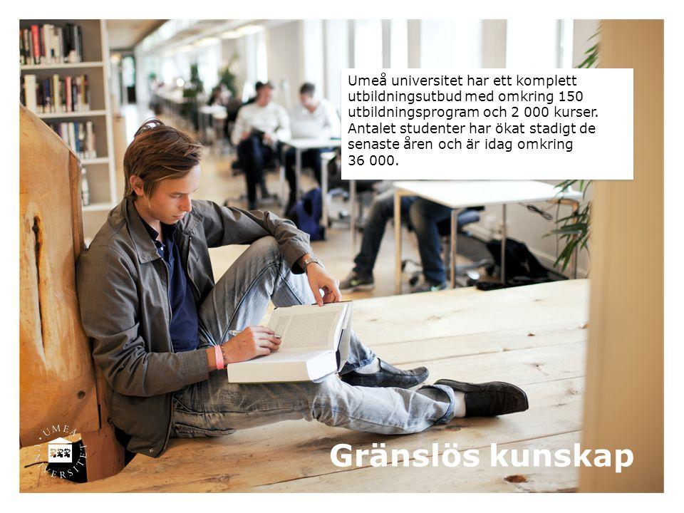 Umeå universitet har ett komplett utbildningsutbud med omkring 150 utbildningsprogram och 2 000 kurser.