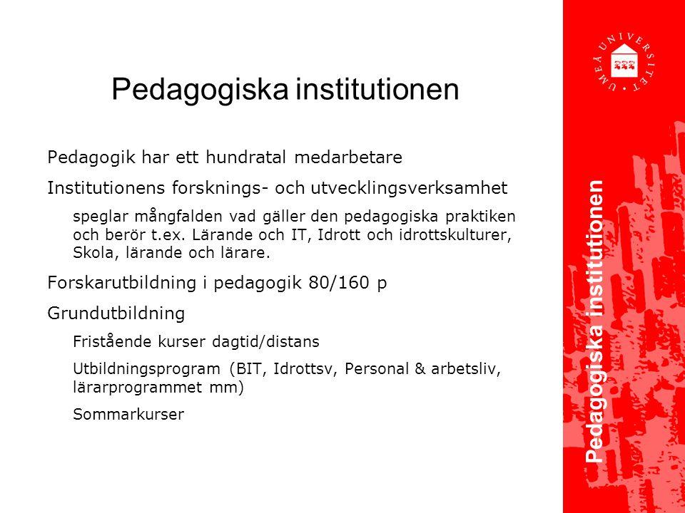 Pedagogiska institutionen