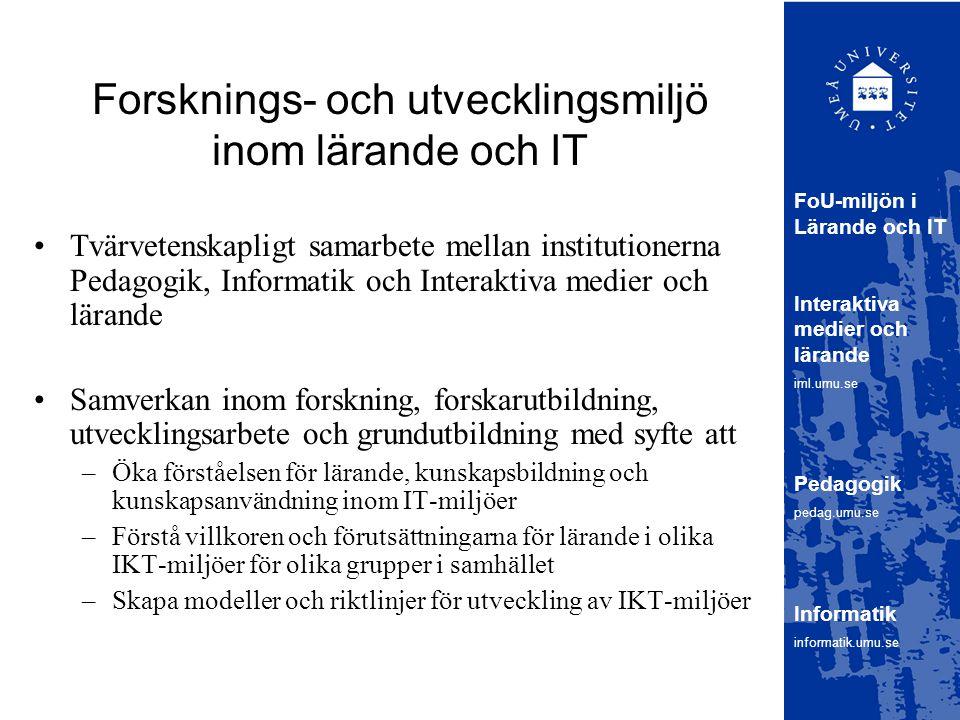 Forsknings- och utvecklingsmiljö inom lärande och IT